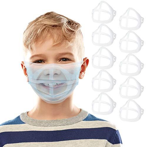 DISEN 10 Stück Kinder Mundschutz Masken Unterstützung Innere Stützrahmen, Wiederverwendbare 3D Maske Bracket Silikon Maskenhalterung Maskenunterstützung unter 5 Jährige