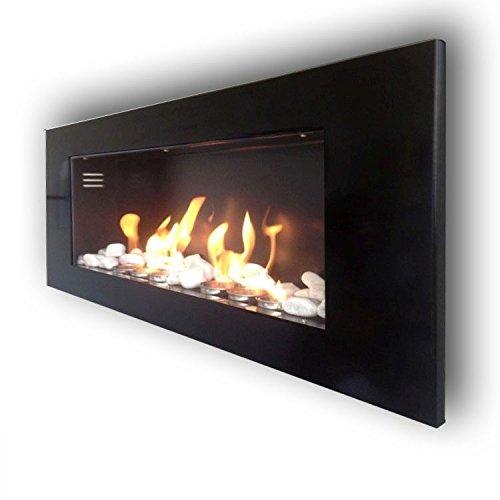 Ethanol Fireplace Stove, Wall Model Monaco High Shine XXL + FREE 24?Decorative Stones