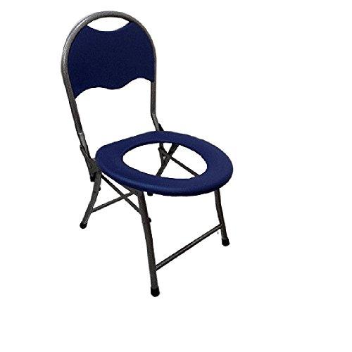 Wanson Klappbarer Toilettenhocker Sitz Mit Kommode Älterer Toilettenstuhl Portable Closesool Nachttisch Kommode Für Senioren Behinderter Toilettenstuhl Medizinischer Toilettenstuhl Blau