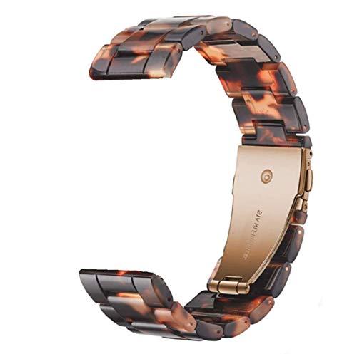 ZAALFC Banda de Reloj de Resina de 22 mm para Samsung Galaxy Watch 3 45mm Banda para Huawei Watch GT2E GT2 46mm Correa para Galaxy Watch 46mm S3 GTR 47mm