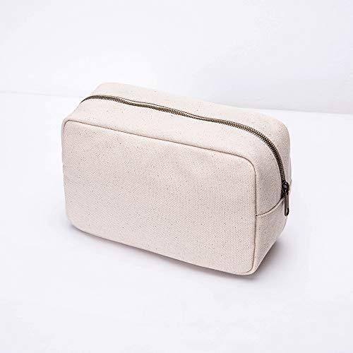 Sac de Rangement Sac Femelle Sac en Tissu de Sac Harajuku Sac d'embrayage de Sac cosmétique (Color : Beige)