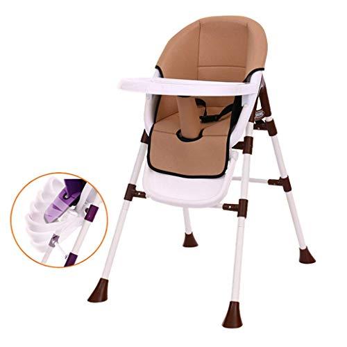 WYJW Kindereetkamerstoel Multifunctionele Baby Eettafel en Stoelen Leren Eten Eetstoel Kruk Verstelbaar/Drukken Fit Kussen/Pedaal