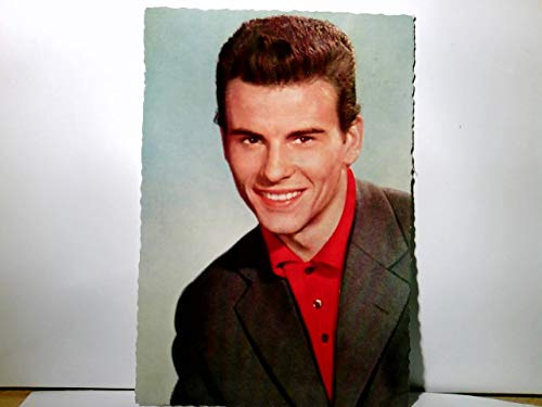 Alte AK / Fotokarte farbig des Schaupielers Horst Buchholz. Portrait. gel. 1958