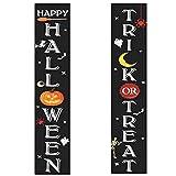 Banner de Truco o Trato, Cartel de Cortina de Pareado de Halloween, Decoraciones para Puertas de Halloween Banner para Decoraciones de Puerta de Entrada de Halloween