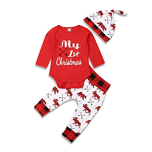 Baby Boy Girls First Christmas Outfit, Baby Boy Christmas Outfit 0-3 Months, Baby First Christmas Outfits for Boys (0-3 Months(2), My First Christmas 2)