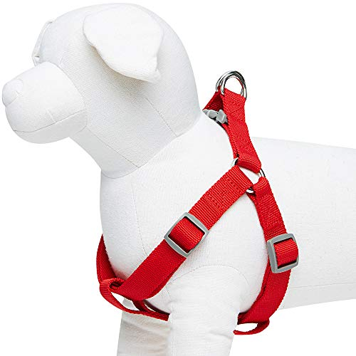 UMI. Essential Classic - Arnés para Perros S, Contorno del Pecho 42-54 cm, arneses Ajustables para Perros (Rojo)