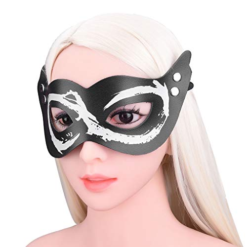 CSH Couple-Role playing Props Soft Feeling Leather Products Maskers Persoonlijke Eyepatch elastiek Performing Kostuums Device Tshirt Training Prop Sunglasses