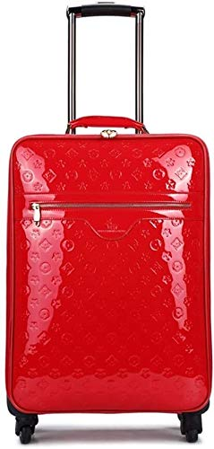 GQY Trolley - Trolley luggage suitcase - suitcase package caster boarding (Color : Red, Size : Small(16))