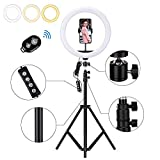 Zorara Ring Light with Stand,12'' Selfie Ring Light with 62' Extendable Tripod Stand for Live Stream,YouTube Video,TikTok,Compatible for iPhone/Camera/Androis