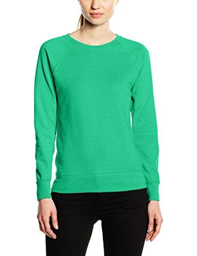 Fruit of the Loom Damen Raglan Lightweight Sweatshirt, Kelly Green, 38