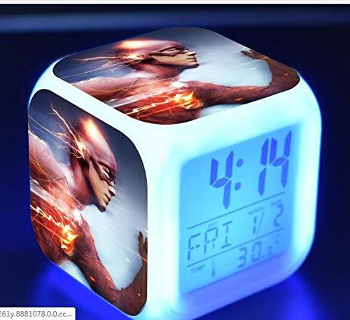 TYWFIOAV Light Season Light Reloj Despertador para Hombre 4 Reloj Despertador con luz de Humor de Siete Colores