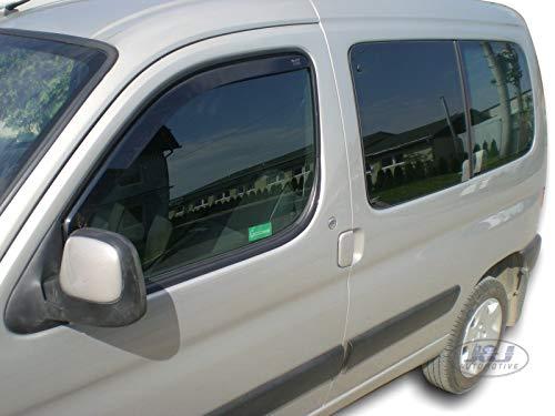 J&J AUTOMOTIVE | Deflecteurs d'air Déflecteurs de Vent Compatible avec Citroen BERLINGO 2 Portes 2002-2008 2pcs