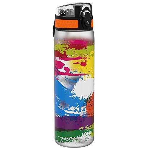 Ion8 Leak Proof Slim Water Bottle, BPA Free, Paint Splat