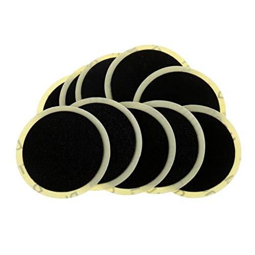 ROSETOR 10 Stück selbstklebende Flicken für Fahrradreifen ohne Klebstoff, schnelle Reparaturwerkzeuge, der Durchmesser des Flickens beträgt 2,4 cm (2,4 Zoll) (schwarz)