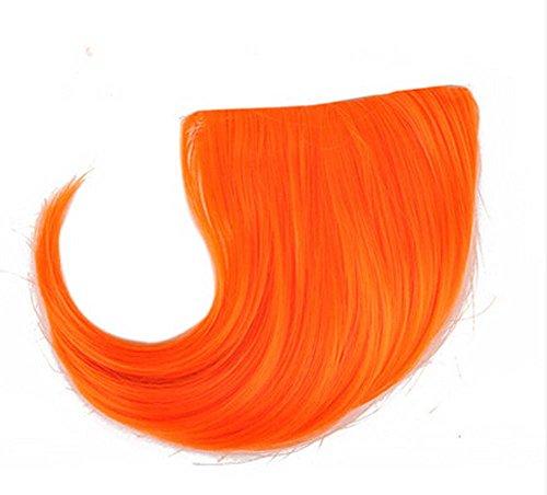 Colorful étape perruque, parti perruque, cheveux Bangs Perruques,Orange