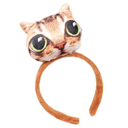 Fille Sweet Cute Cat coiffure bande de cheveux bandoulière bande bande antislip bandeau, Petit chat Meng