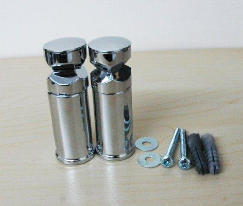 Twee enkele chroombeugels voor handdoekradiator gebogen of plat