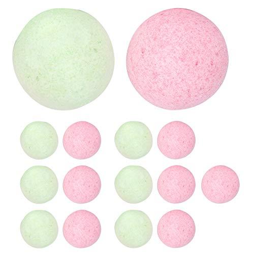 15 stycken Rund badsaltboll, badboll, doftande skalande badsalt tvålbubbla Badtillbehör för att ta bort död hud Klåda för en god natts sömn Stressavlastning Bad mot förkylning och hosta