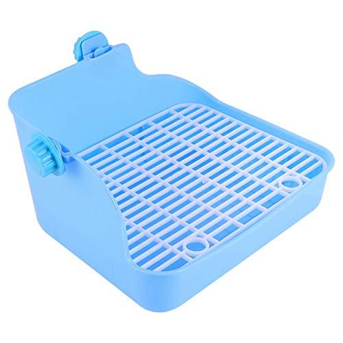 Balacoo Kleintier Toilette Töpfchen Trainer Kunststoff Training Toilette für Hamster Rennmaus Hase Chinchilla Meerschweinchen Frettchen (Himmelblau)