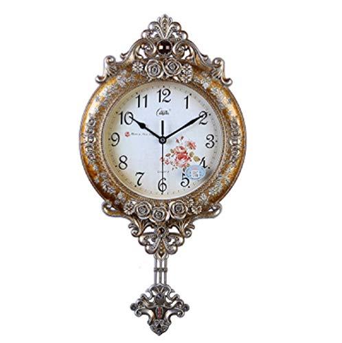 Ayanx europese mute wandklok mode quartz klok swing luxe horloges en klokken zitkamer creatieve quartz klok 28cm