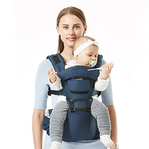 RSTJ-Sjef Multifunction Sling for Holding Babies,Four Seasons Baby Carrier Hip Seat,Baby Carriers Front And Back From Birth,Accompany Your Baby To Grow,dark blue