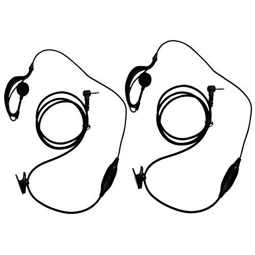 KEESIN G Forma de Clip Auriculares / Mic del auricular para Motorola Talkabout 2 radio de dos vías walkie talkie 1 pines 100-0 (2 piezas)