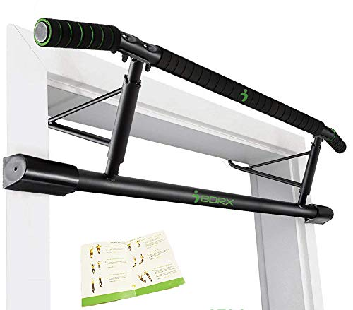 BODYROX Premium Pull up/Chin up Bar | Doorway Home Gym Fitness | Elevated Design, Heavy Duty, Mountable
