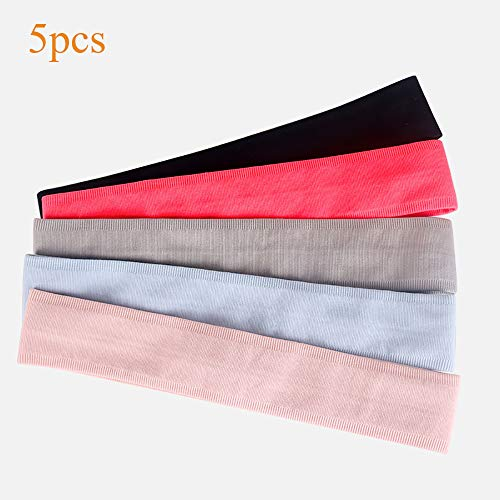 ZNSH Workout Haarband voor dames en heren, antislip, zacht, stretchy bandana, voor yoga/pilates/dansen/hardlopen/fietsen/fitness