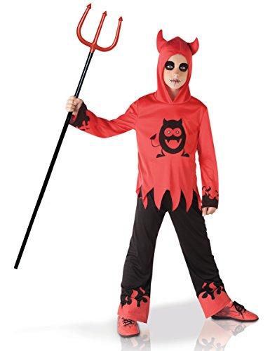 Rubies-S8371M Disfraz diablillo con ojos móviles, Color negro, rojo, M (5-7 años) (Rubie