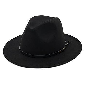 Lisianthus Women Belt Buckle Fedora Hat Black