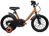YYhkeby Bicicletas 14 Pulgadas for niños, una Bicicleta de los niños con Las Ruedas de Entrenamiento Regalo for 3-5 años de Edad los niños y niñas (Color: Azul) Jialele (Color : Orange)
