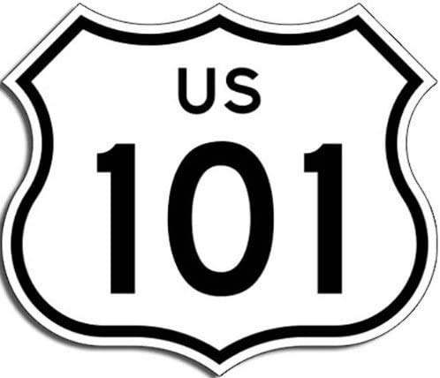 US Highway 101 Sign Shaped 3M Reflective Sticker| California Hollywood Freeway