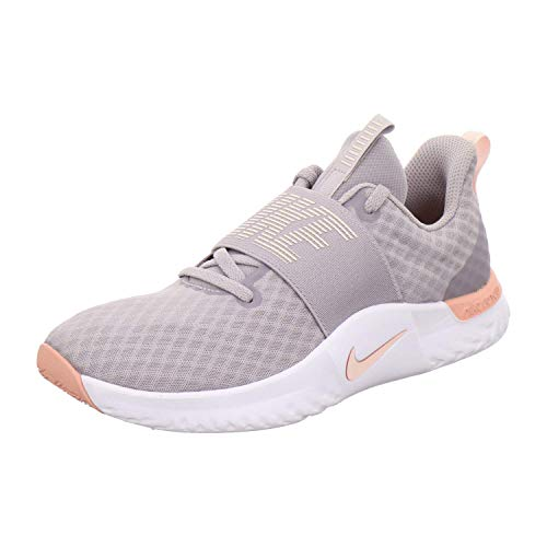 Nike Women's Fitness Shoes, Grey/Pink, 6.5