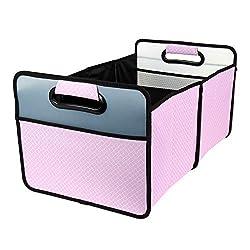 cheap Pilot Automotive CG-38QF-P Quatrefoil Folding Trunk Organizer-Pink