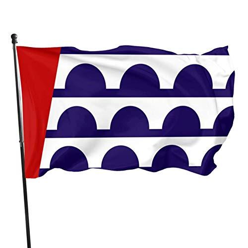 Bandera de la ciudad de Des Moines 3 x 5 pies Bandera exterior 100% poliéster translúcido de una sola capa 3 x 5 pies
