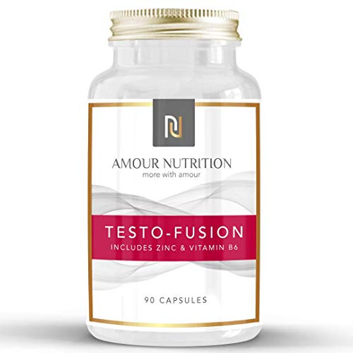 Testo- Fusion, High Strength Testosterone Supplement - Testosterone Booster for Men, Supports Testosterone Levels, D Aspartic Acid, Fenugreek, UK Made