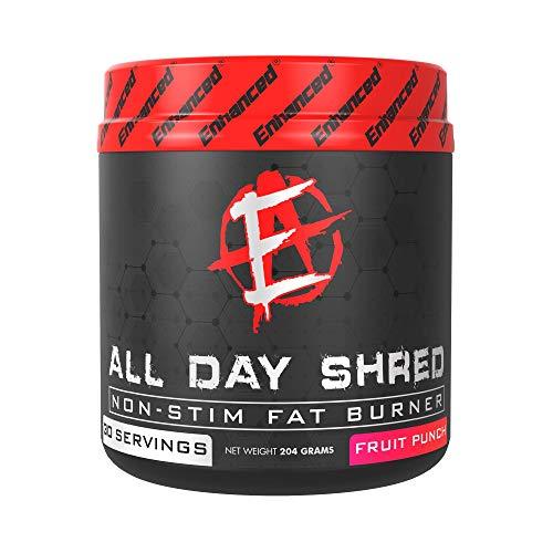 Enhanced Labs Bodybuilder Fat Burner Powder Supplement for Men & Women (30 Serving) – Nighttime Metabolism Booster & Weight Loss Drink with L-Carnitine & Green Tea – Burn Fats 24 Hours – Fruit Punch