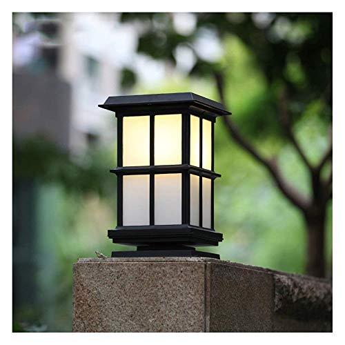 ZYLE Columna Solar LED lámpara de la Cabeza del jardín lámpara Impermeable IP54 Columna al Aire Libre Patio de Aluminio