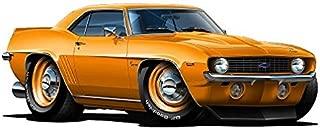 1969 Camaro ZL1 WALL DECAL 2ft long Vinyl Reusable Movable Fun Stickers for Boys Classic Cartoon Cars Home Decor