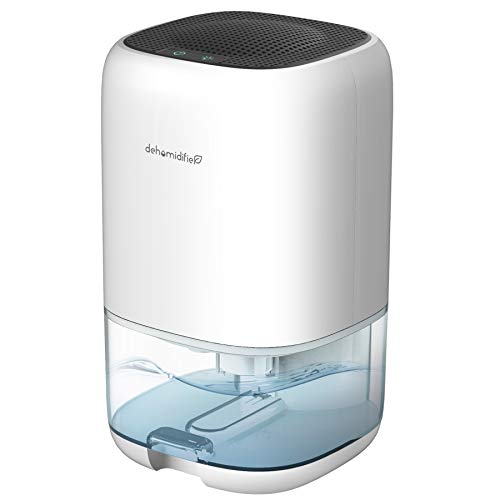 AUZKIN Small Dehumidifier for 2200 Cubic Feet 260 sq ft, 35oz 1000ml Capacity Portable and Quiet Dehumidifiers for Basements, Home, Bedroom, Bathroom, Garage, Wardrobe, RV