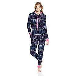 Women's Printed Sweater Fleece Onesie