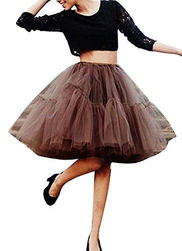 iMixCity Falda de Tul de Princesa de la Doble 50s de la Vendimia Traje de Falda de Disfraz Mujer Enagua Ballet Pettiskirt Vestido de Rockabilly con 6 Capas
