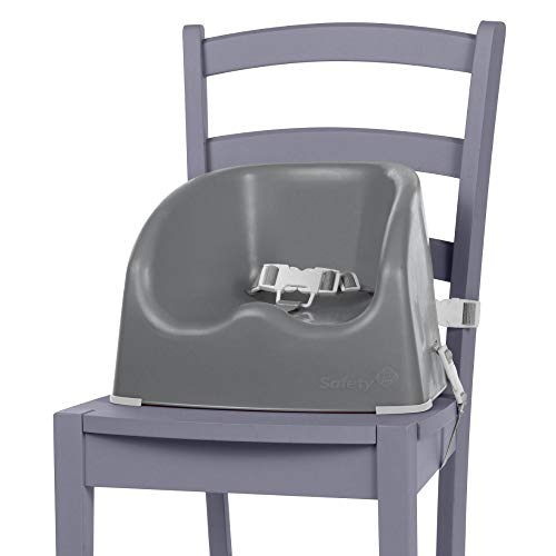 Safety 1st Essential Booster Rehausseur de Chaise, De 6 mois à 3,5 ans (15kg), Warm grey