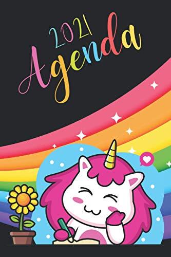 Agenda 2021 Unicornio: agenda 2021 semana vista - planificador semanal y mensual 2021 A5 - de enero a diciembre 21 - una Semana en dos Páginas - agenda anual 2021 - regalo unicornio hombre mujer