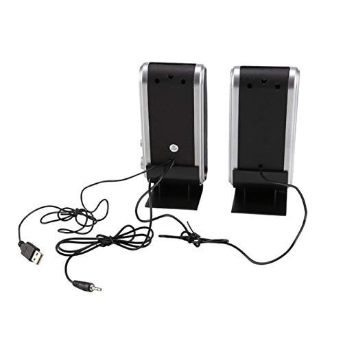 Ballylelly Altavoces estéreo Multimedia para computadora HY-218 USB estéreo portátil Soundbox PC de Alto Rendimiento Altavoces de música para computadora portátil
