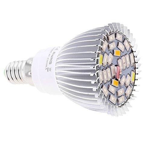 Sharplace Pflanzenlampe, Pflanzenbeleuchtung Led Wachsen Licht LED Birne Wachstum Zimmerpflanzen Pflanzenlichte - 28W Vollspektrum, E14
