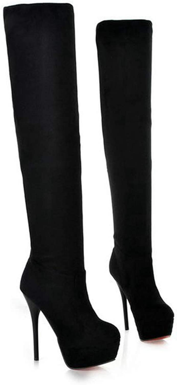 Winter Fashion Suede Over The Knee Boots Platform High Heel Boots Women Stiletto Heels Thigh High Boots