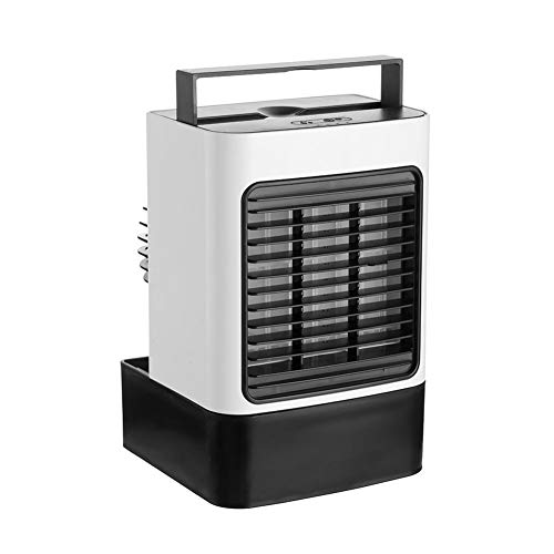Ventilador, Ventilador Silencioso Portátil del Anión De Escritorio del Humidificador del Aire Acondicionado del Mini USB Blanco Talla única