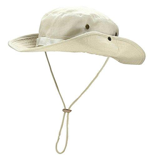 Faletony Outdoor Hut Buschhut Boonie Hat mit Kinnband Fischermütze Sonnenhut Sommerhut für Herren Damen