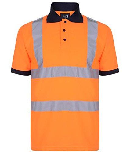 Fast Fashion – Hi Viz Marine Col Sûreté Vêtements De Travail Haute Visability De Polo T-Shirt